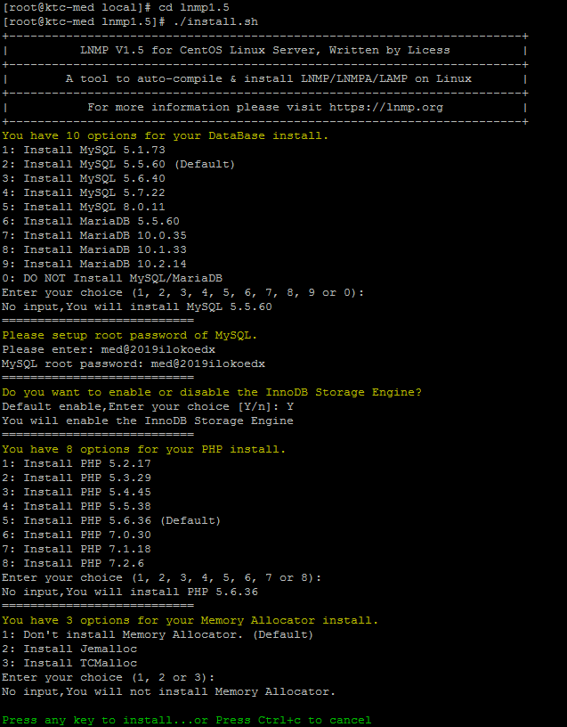 lnmp1.5集成环境搭建使用